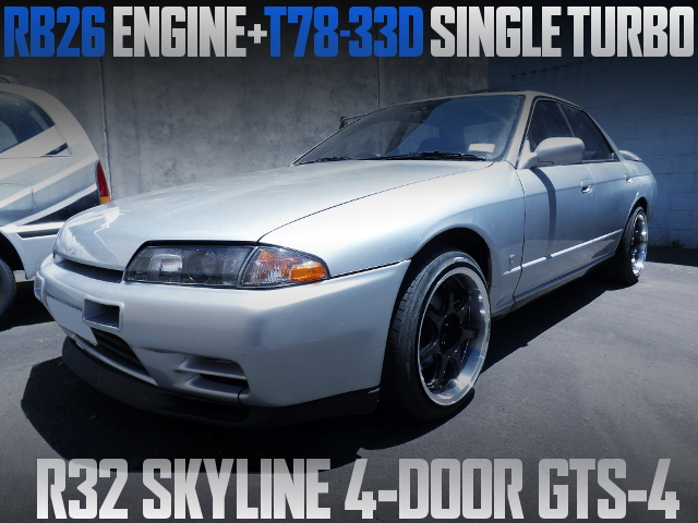 RB26 WITH T78-33D TURBO R32 SKYLINE 4DOOR GTS-4