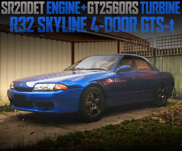 SR20DET ENGINE WITH GT2560RS R32 SKYLINE SEDAN BLUE