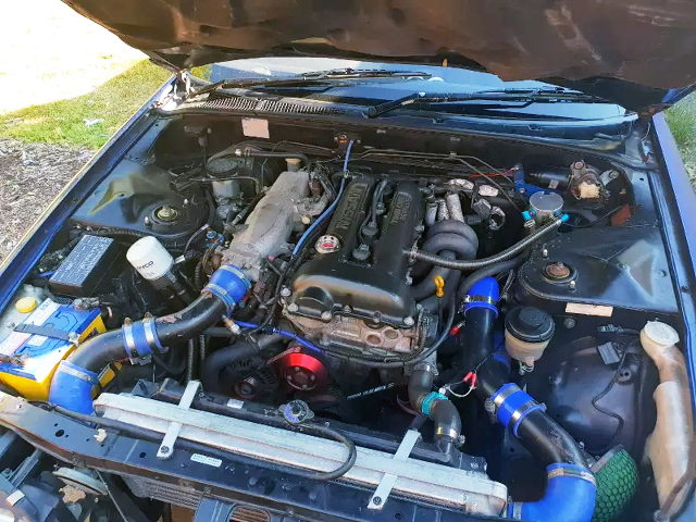 SR20DET TURBO ENGINE BLACK TOP