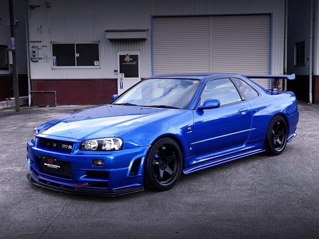FRONT EXTERIOR R34 GTR VSPEC BLUE
