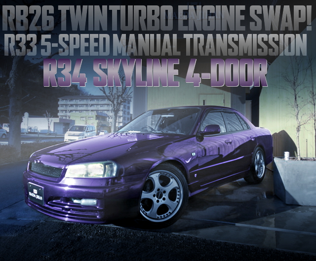 RB26 TWINTURBO SWAP R34 SKYLINE 4DOOR SEDAN