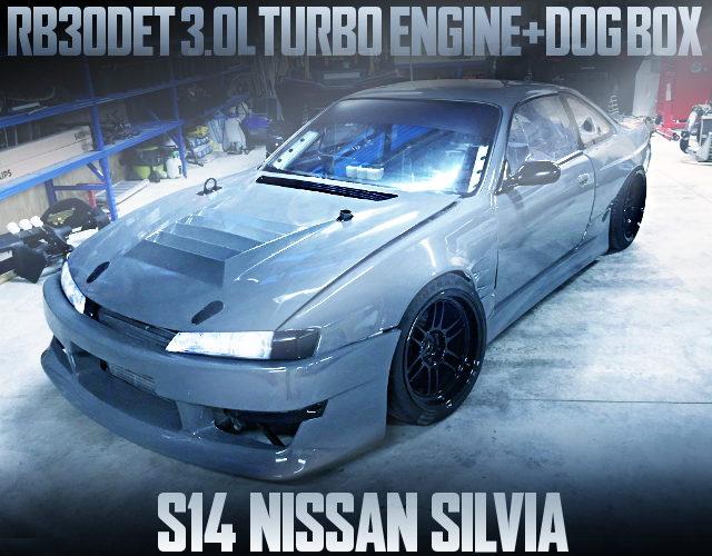 RB30DET TURBO ENGINE DOGBOX S14 SILVIA KOUKI GRAY