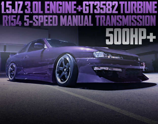 15JZ 3000cc ENGINE WITH GT3582 TURBO ON S14 200SX