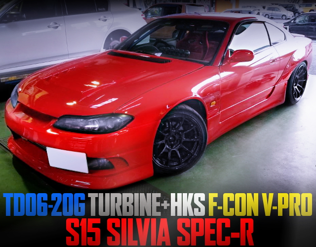 TD06-20G TURBO WITH HKS V-PRO S15 SILVIA SPEC-R RED