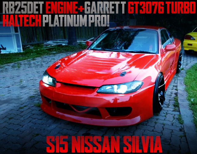 RB25DET WITH GT3076 TURBO S15 SILVIA RED