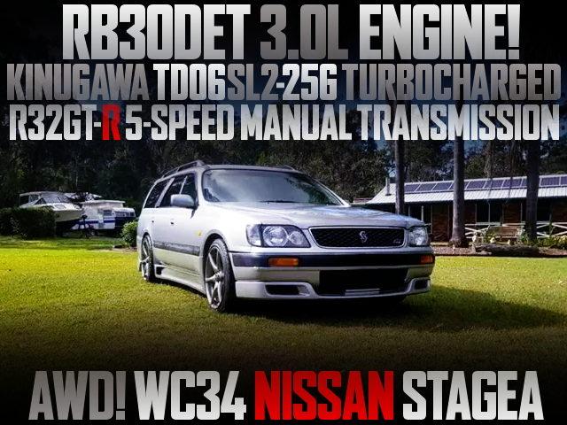 RB30DET TURBO ENGINE WC34 STAGEA AWD