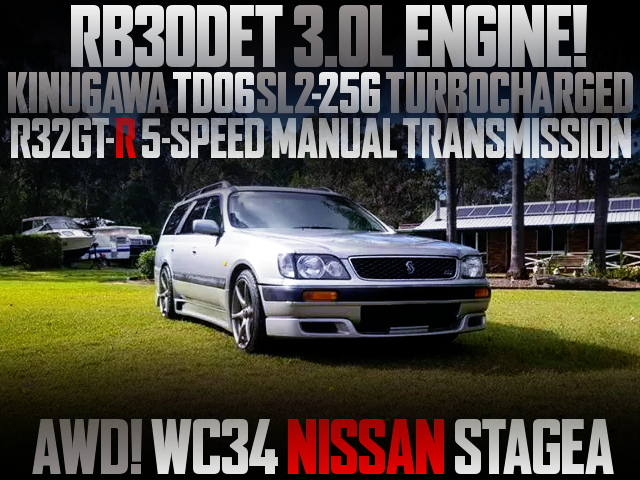 RB30DET TURBO ENGINE WC34 STAGEA AWD