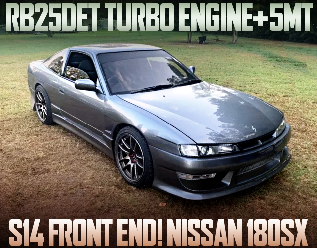 S14 FRONT END AND RB25DET SWAP FOR 180SX