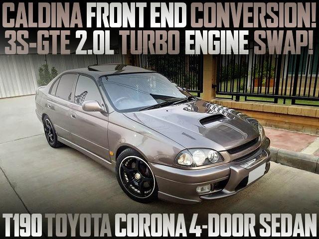 CALDINA FRONT OF T190 CORONA 4-DOOR