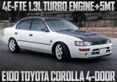 4E-FTE 1300cc TURBO ENGINE E100 COROLLA 4-DOOR SEDAN