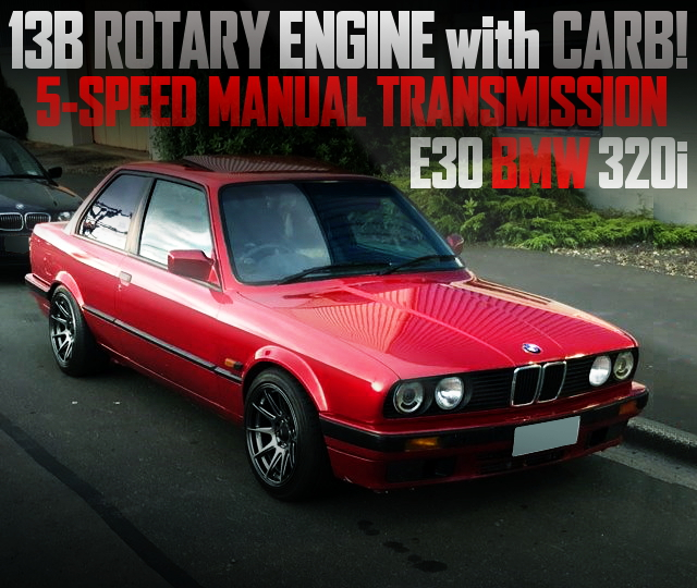 13B ROTARY ENGINE SWAP E30 BMW 320i RED