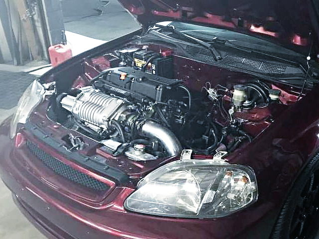 HOOD OPEN FOR EK CIVIC