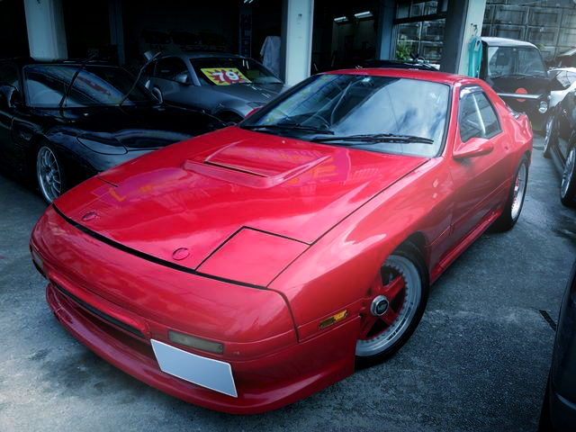 FRONT FACE FC3S SAVANNA RX7 RED