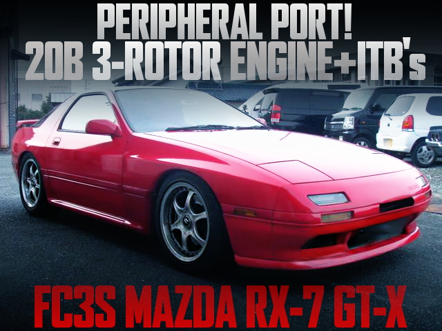 20B 3-ROTOR PP ENGINE INTO FC3S RX7 RED