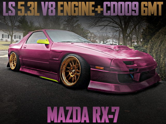 LS 5300cc V8 ENGINE 6MT FOR FC3S RX7 PURPLE