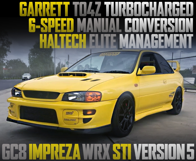 TO4Z TURBO WITH HALTECH FOR GC8 IMPREZA WRX STI