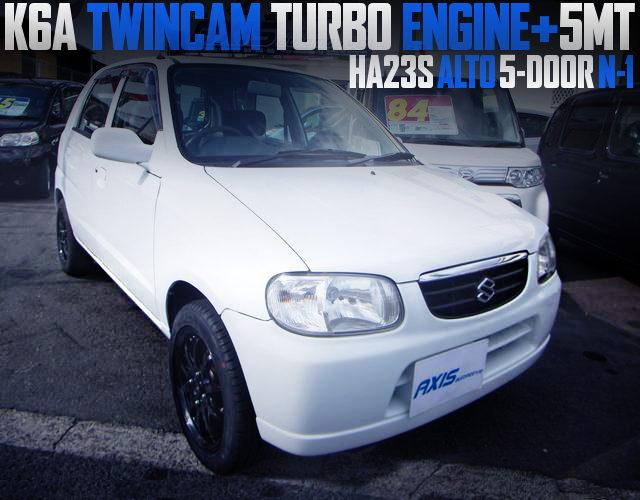 K6A TWINCAM TURBO ENGINE WITH 5MT SWAP HA23S ALTO 5-DOOR
