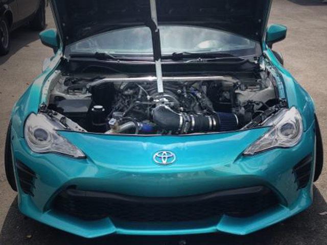 LS1 5700cc V8 ENGINE INTO FRS ENGINE ROOM
