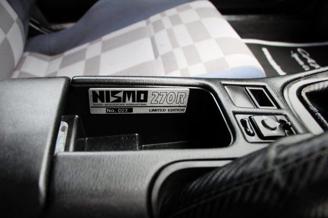 NISMO 270R SERIAL NUMBER PLATE