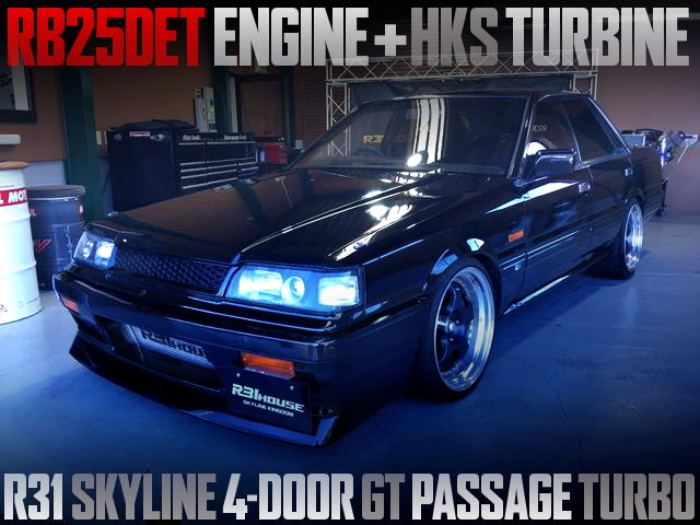 RB25DET WITH HKS TURBO INTO R31 SKYLINE PASSAGE GT TURBO