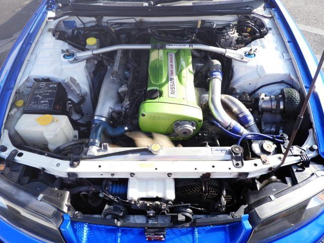 RB26 TWINTURBO ENGINE LIGHT GREEN