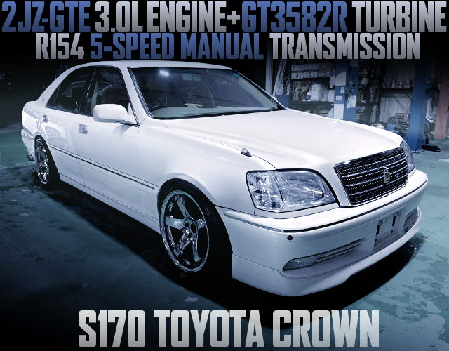 2JZ-GTE ENGINE WITH GT3582R TURBO S170 CROWN