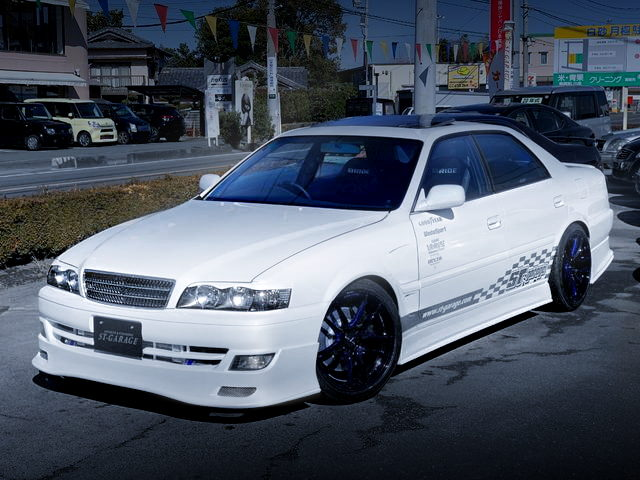 FRONT EXTERIOR JZX100 CHASER LEXUS WHITE