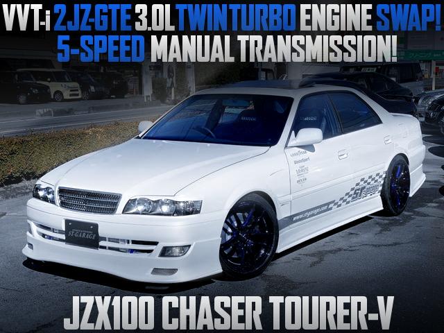 2JZ TWINTURBO ENGINE SWAP JZX100 CHASER TOURER-V