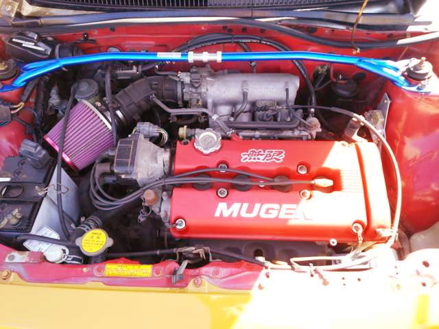 MUGEN VALVE COVER ON B18C VTEC ENGINE