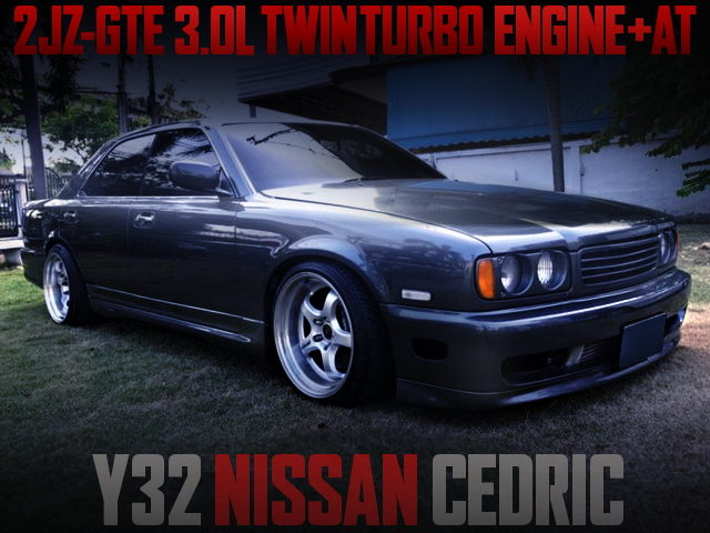 2JZ TWINTURBO ENGINE SWAP Y32 CEDRIC