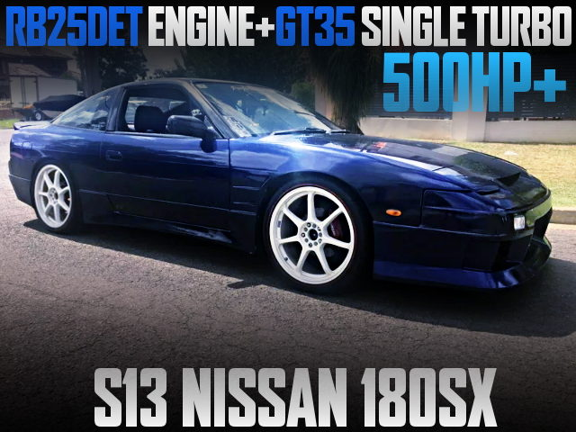 RB25DET ENGINE WITH GT35 TURBO AT 180SX