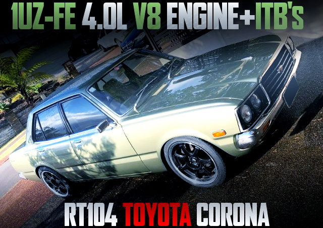 1UZ 4000cc V8 WITH ITB FOR RT104 CORONA