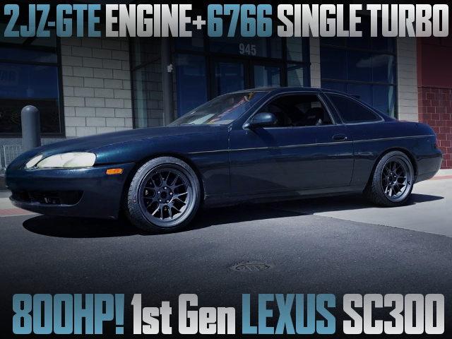 2JZ-GTE SINGLE TURBO FOR 1st Gen LEXUS SC300