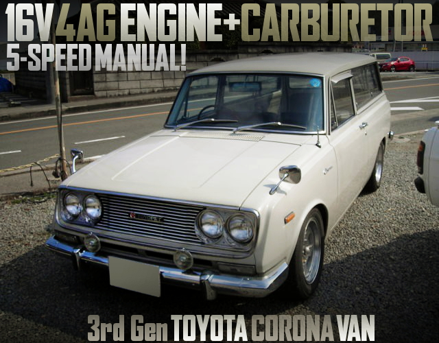 4AG CARBS ENGINE WITH 5MT SWAPPED 3rd Gen CORONA VAN