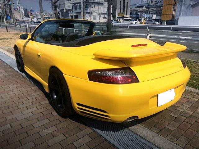 REAR EXTERIOR 996 PORSCHE 911 CABRIOLET