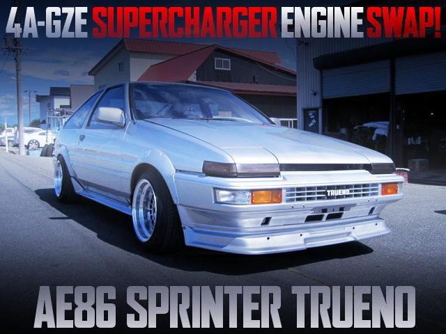 4AGZE SUPERCHARGER ENGINE AE86 TRUENO