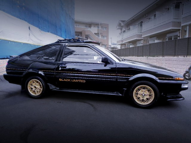 SIDE EXTERIOR AE86 BLACK LIMITED