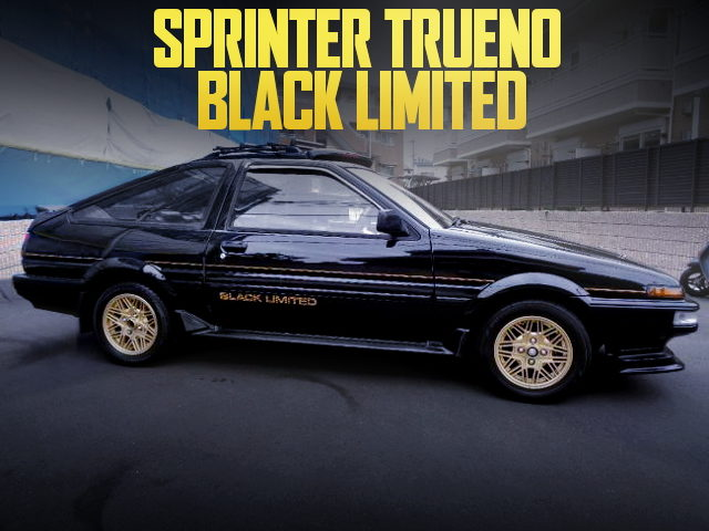 LIMITED MODEL AE86 TRUENO BLACK LIMITED