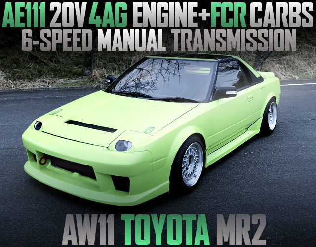 20V 4AG CARB ENGINE with 6MT OF AW11 MR2 LAMBO GREEN