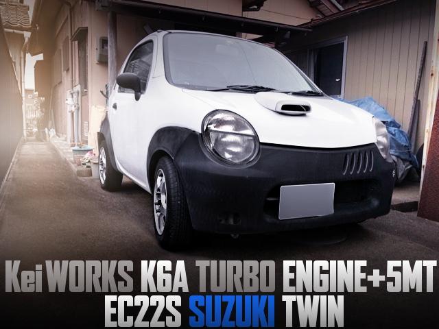 Kei WORKS K6A TURBO ENGINE SWAP EC22S SUZUKI TWIN
