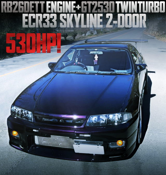 530HP RB26 GT2530 TWINTURBO INTO ECR33 SKYLINE