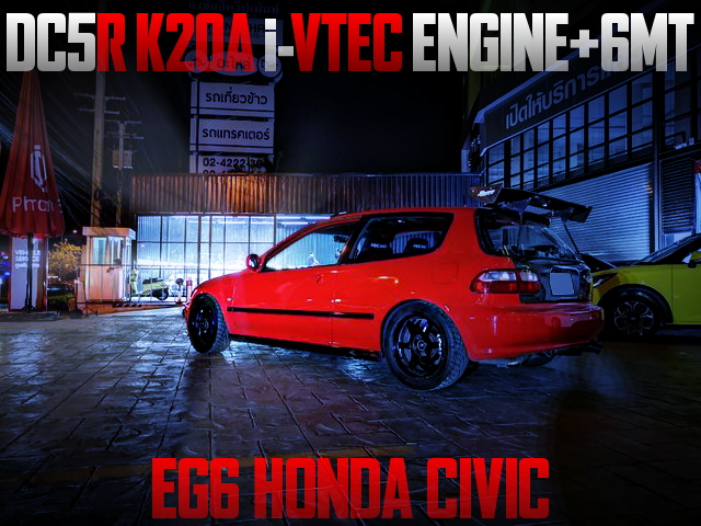 K20A IVTEC ENGINE SWAP EG6 CIVIC HATCH