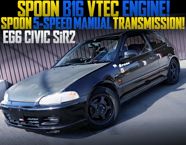 SPOON SPORTS ENGINE AND MISSION INSTALLED EG6 CIVIC