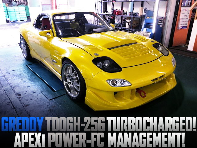 GREDDY TD06H-25G TURBOCHARGED FD3S RX-7 YELLOW