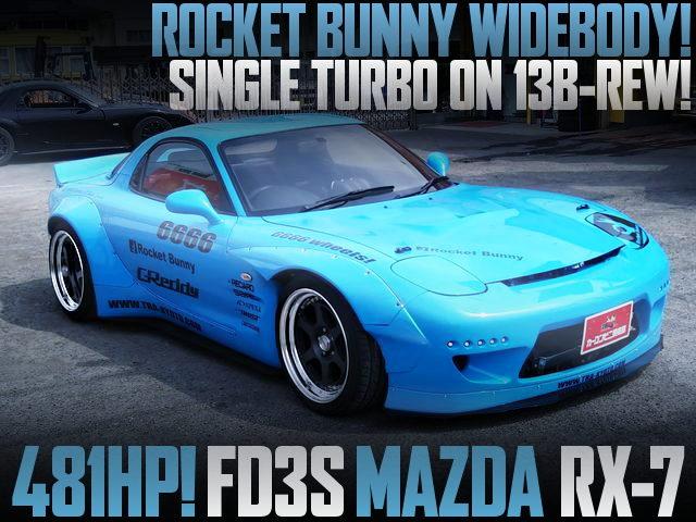 ROCKET BUNNY BODY KIT FD3S RX7 LIGHT BLUE