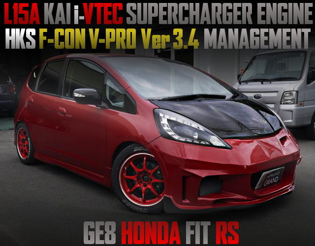 L15A iVTEC SUPERCHARGER ENGINE GE8 FIT RS