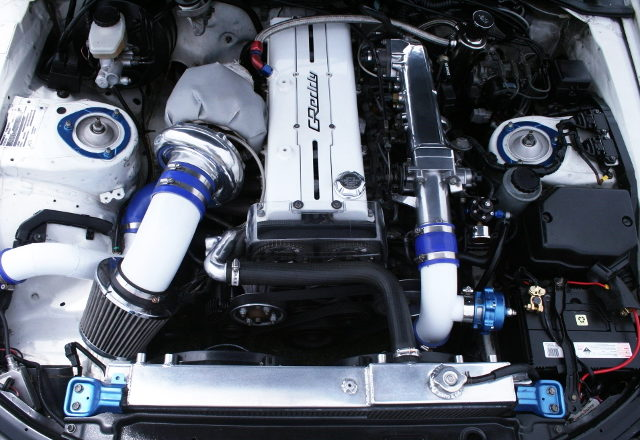 GREDDY T78 SINGLE TURBO ON 1JZ-GTE ENGINE