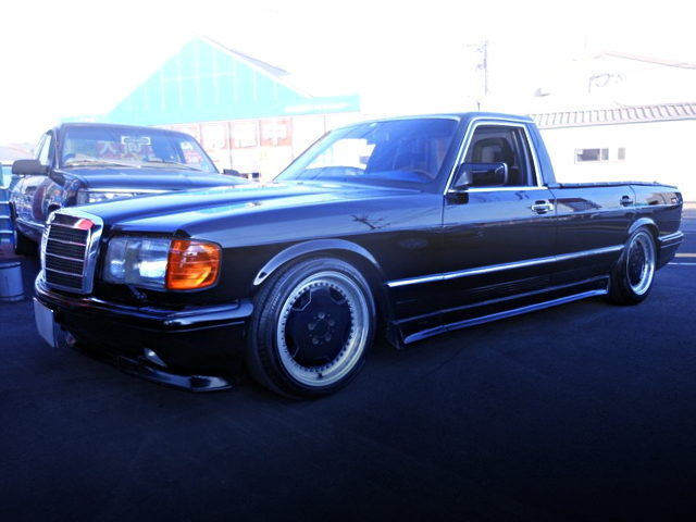 FRONT EXTERIOR W126 BENZ 380SEL PICKUP TRUCK