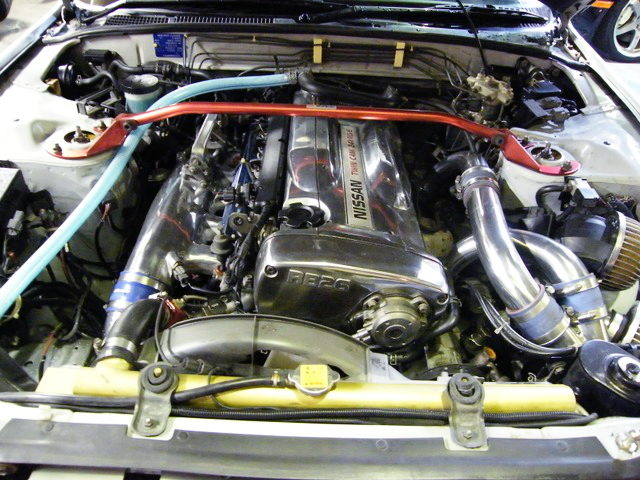CHROME COLOR RB26 TWINTURBO ENGINE