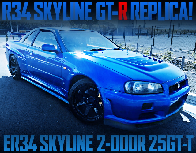 R34GTR REPLICA FOR ER34 SKYLINE 2DOOR 25GTT